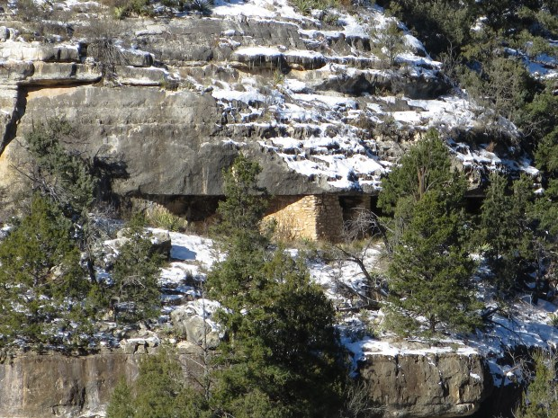 Looking across the canyon from the Island Trail, Walnut Canyon National Monument, Arizona