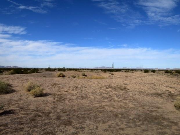 Unexcavated sunken ballcourt, Casa Grande Ruins National Monument, Arizona