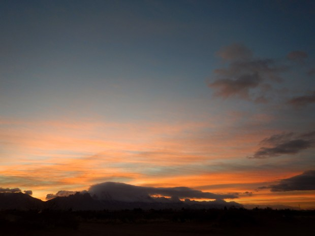 Pretty awesome cloudy sunrise, Las Cruces, New Mexico