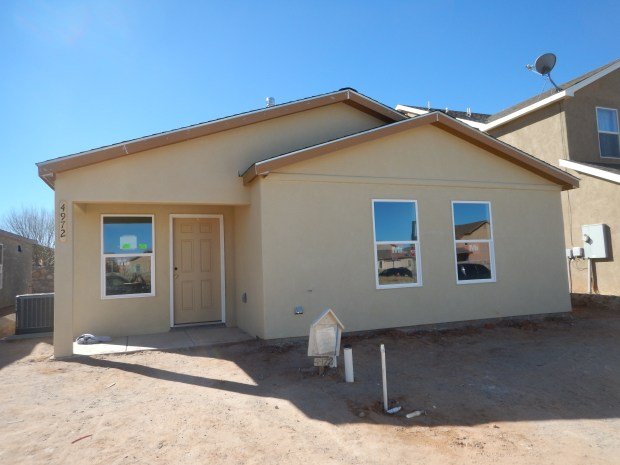One of the houses after the stucco was complete, Mesilla Valley Habitat for Humanity, Las Cruces, New Mexico