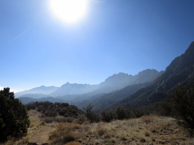 Descending the east side of Baylor Pass Trail, Organ Mountain-Desert Peaks National Monument, New Mexico