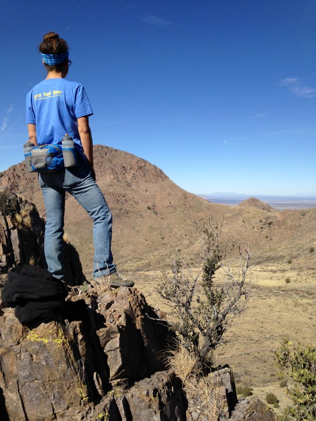 Me looking into Bar Canyon, Soledad Canyon Recreation Area, New Mexico