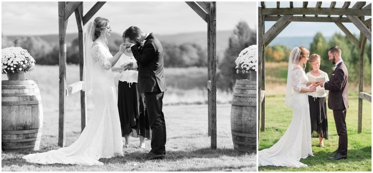Wedding Ceremony at Wren's Roost Barn