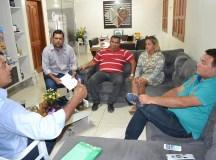 Jaziel Alencar (Tororó), o diretor do Instituto Federal do Amazonas, Francisco Mendes, a coordenadora Fátima Soriano e os secretários Wanderley Barroso e Kelcen Bandeira.