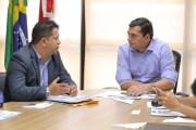 Wilson Lima recebe prefeitos de Manacapuru e Urucurituba para discutir demandas dos municípios