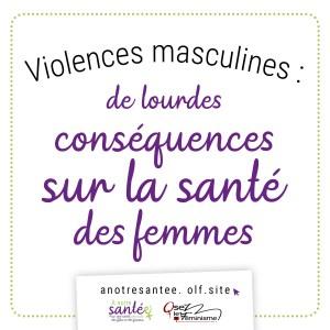 Visuel : Violences masculines : de lourdes conséquences sur la santé mentale des femmes