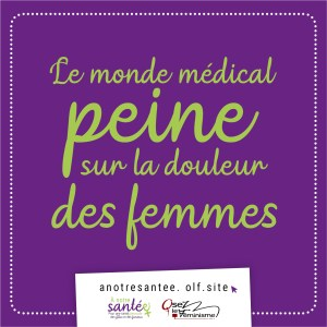 Visuel : Le monde médical peine sur la douleur des femmes