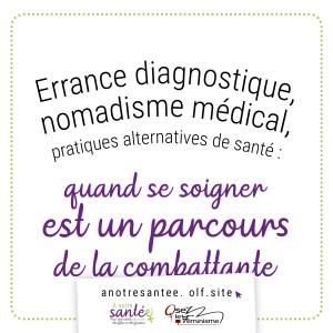 Visuel : Errance diagnostique, nomadisme médical, pratiques alternatives de santé