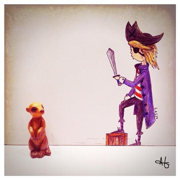Pirates aren't afraid of... a meerkat?!!