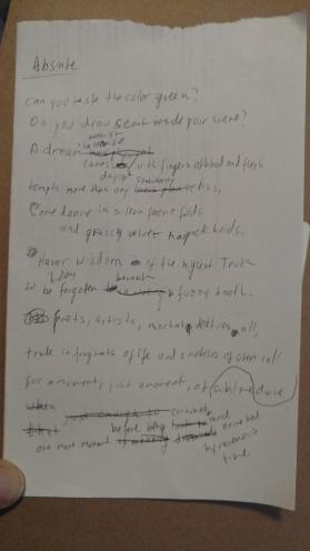 04182019 Absinthe poem