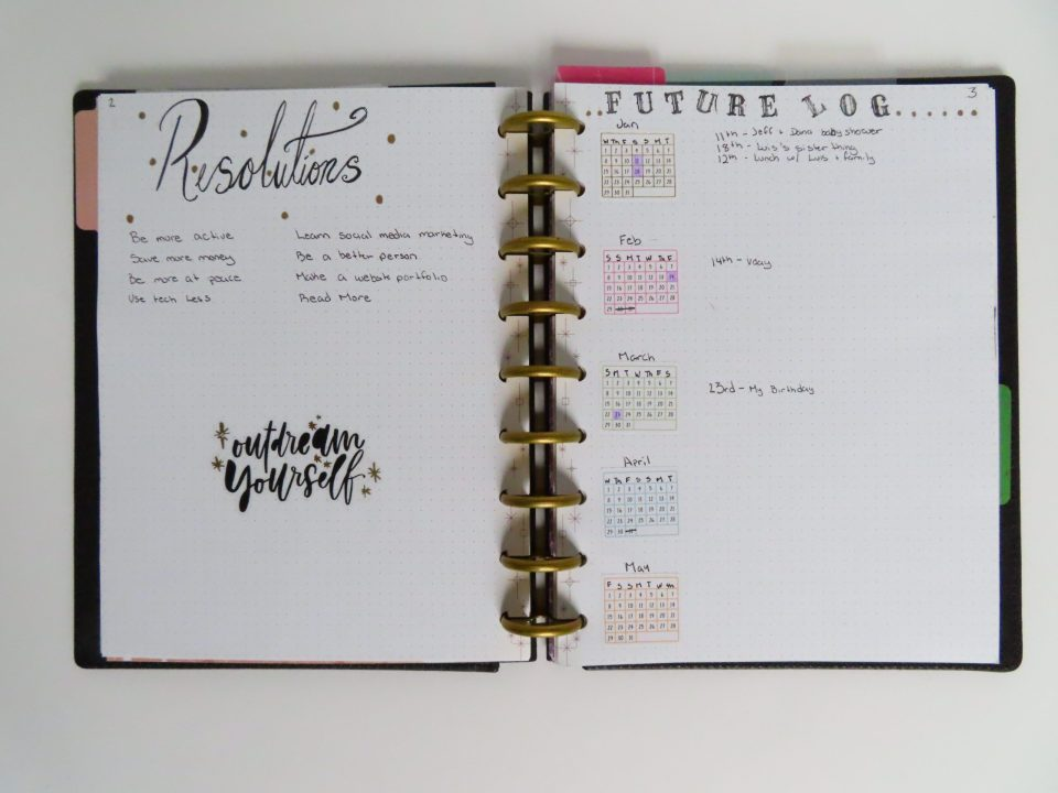 Resolutions and Future Log
