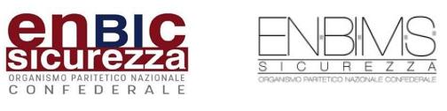 Logo Enbic Sicurezza e logo Enbims Sicurezza