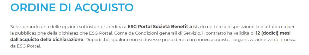 Ordine di Acquisto ESG