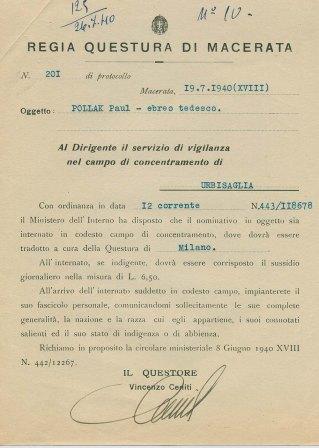 Documenti conservati presso l'Archivio di Urbisaglia