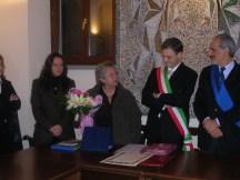 Da sinistra. Giovanna Salvucci, Dory Bonfiglioli, Roberto Broccolo e Giulio Silenzi