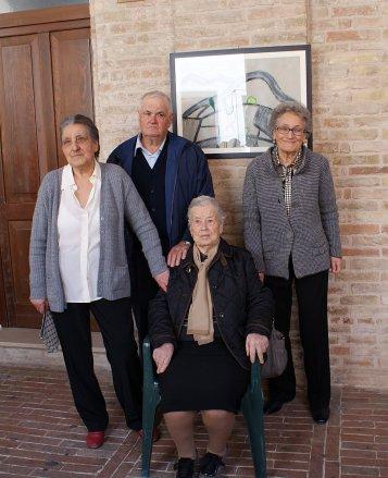 Giuseppa, Bruno, Elisa e Luciana Staffolani