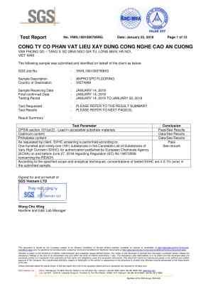 2 SPC Flooring Test Report  SGS Vietnam 01 283x400 - Giải pháp kiến trúc dành cho gia đình và nhà ở