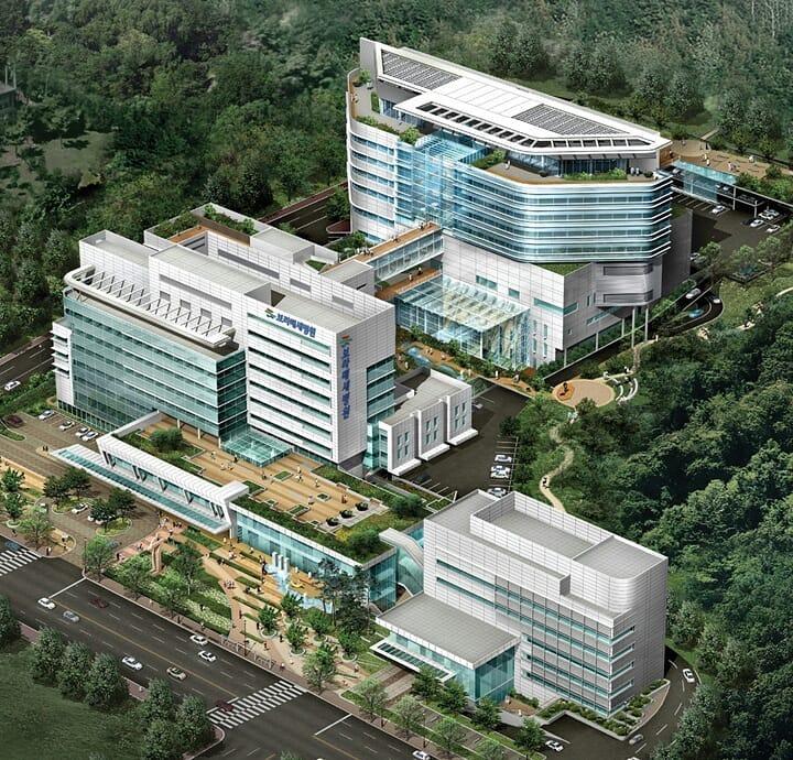Projeto de edifício do hospital, dificuldade de construção (projeto do Hospital de Boramae)