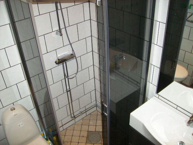 Badrum i stora timmerhärbret hos Flottargården i Valsjöbyn