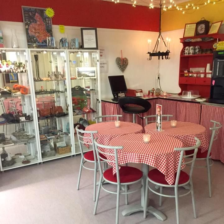 Café hos Servicepunkt Handlarn i Rötviken