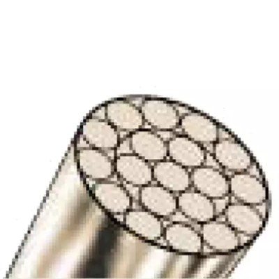 Stainless steel spiral rope 1x19 wires