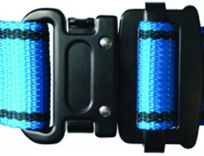 Click fastener on full body harnesses