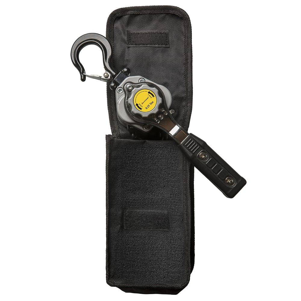 Light metal lever hoist Delta Alu Version 2021 in belt pouch