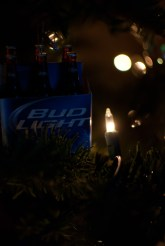 To really get the idea of this family's Christmas. Bud light.