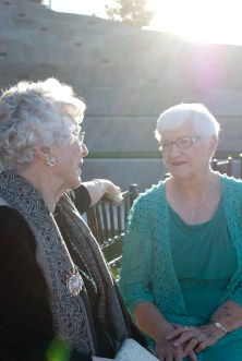 Grandma's talkin. Just love this picture
