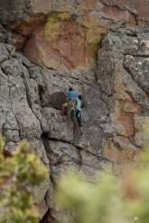 Climbers on Devils head