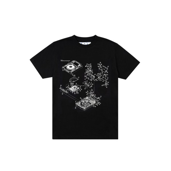 OFF-WHITE x Pioneer Console Tee Black