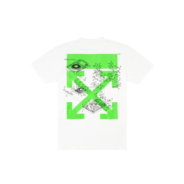 OFF-WHITE x Pioneer Console Tee White