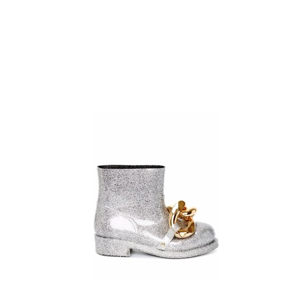 JW Anderson Chain Rubber Boots Silver