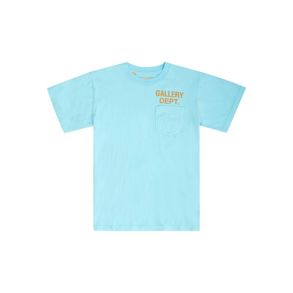 gallery dept pocket tee turqoise front