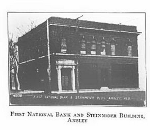 First National Bank and Steinmeier Building, Ansley, Nebraska