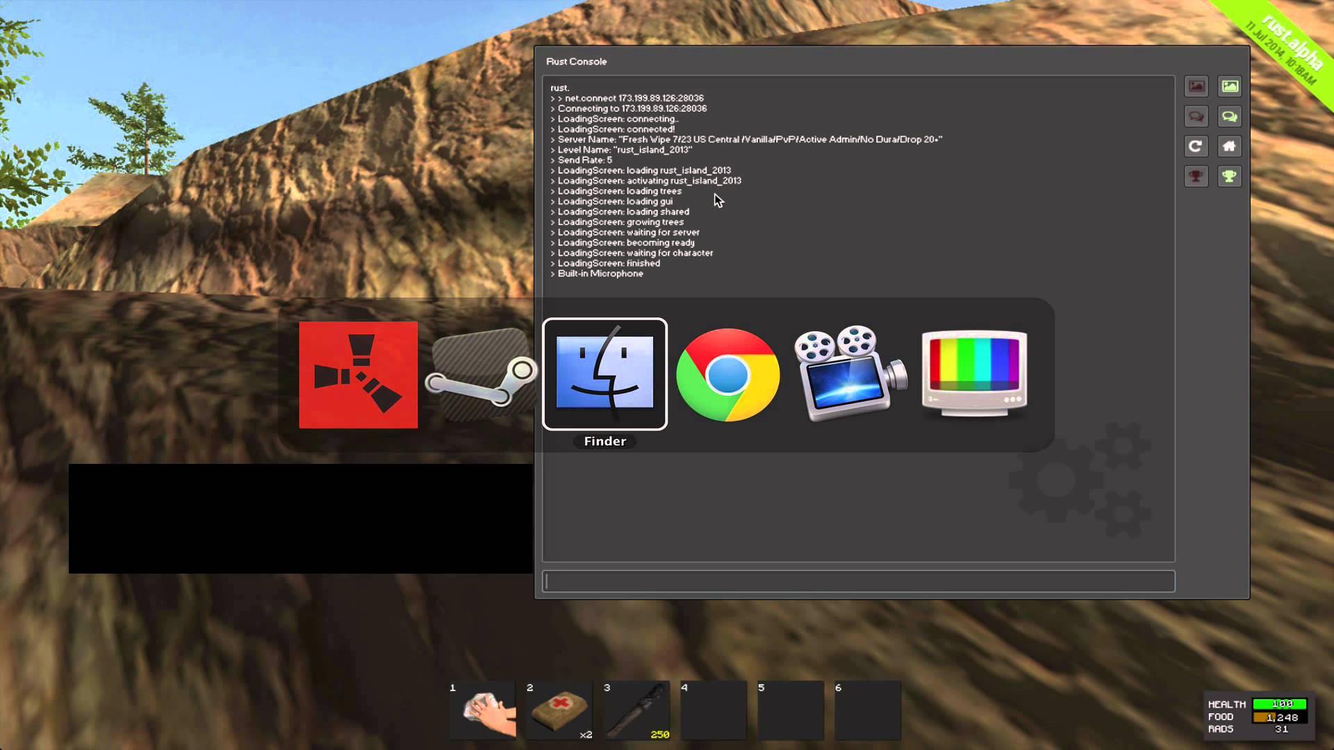 rust game not working on mac
