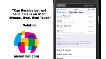 can send not receive emails ios