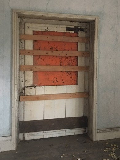 Original Front Door - Boarded