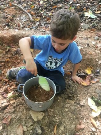 For some children, even getting dirty is risky (not this one!)