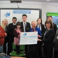 Martin High School Present Cheque to Anstey Community Library