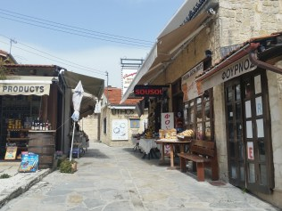 Small village craft stores and bakeries
