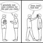 Conversations with theists and evidence of god