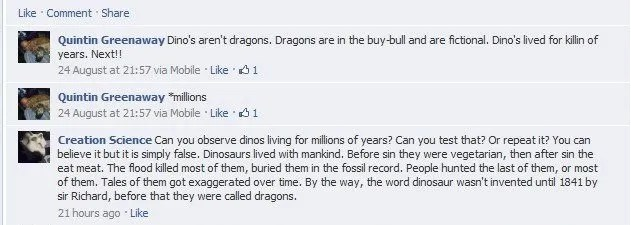 dinosaurs lived with man