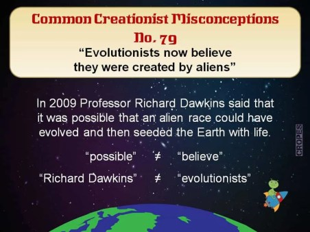 Creationist Misconceptions No. 79 - Dawkins & Aliens