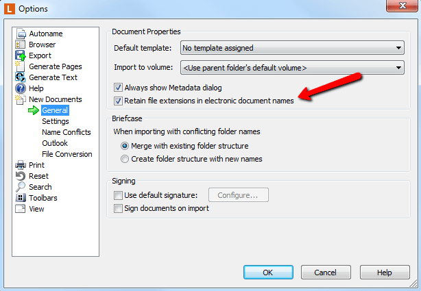 Retaining File Extension In Document Name