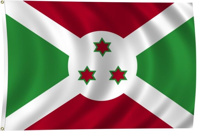 Flag of Burundi - 10 Most Dangerous Countries in Africa