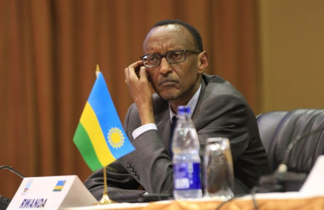 Rwanda's President Paul Kagame attends the extraordinary summit of the International Conference on the Great Lakes Region (ICGLR) head of states emergency summit in Uganda's capital Kampala