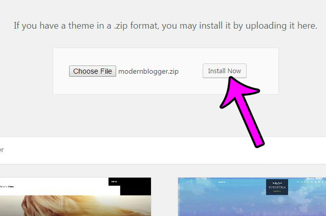 how to install a genesis child theme in wordpress 4.6.1