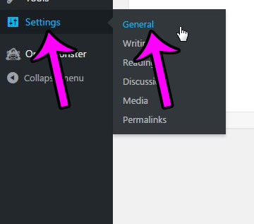 click settings, then click general