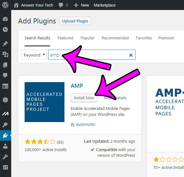 add the amp plugin from automattic